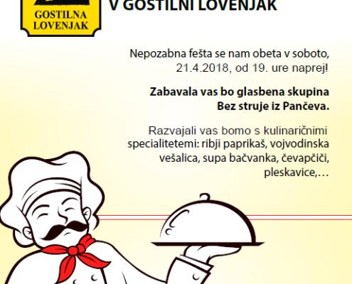Dnevi vojvodinske kuhinje in glasbe 2018