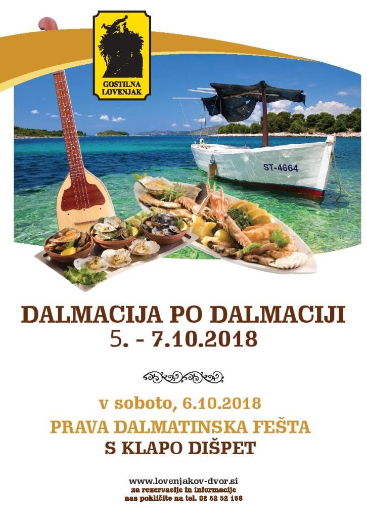 Dalmacija po dalmaciji 2018